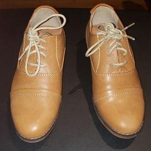 Boys Camel Color Dress Shoes